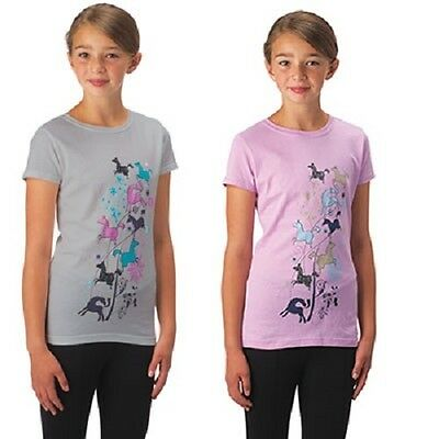 CLOSEOUT Kerrits Kid's Leaping Horse Tee Petal XLarge Regular $25