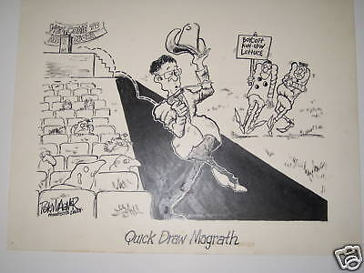 Pete Wagner QUICK DRAW MAGRATH political cartoon