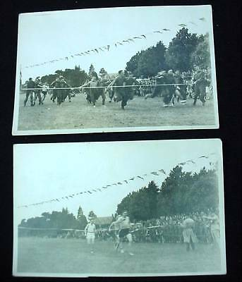 2 Postcards Canadian Military WW2 Three Leg Race & Other Track Event