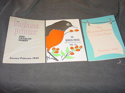 (3) 1945 The Business Printer And The Catalog Digest Publications