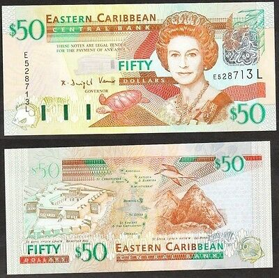 East Caribbean States - N.D. (2003) 50 Dollar. P.45i. St Lucia. UNC.