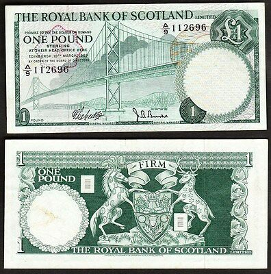 Scotland - 1969 1 Pound. P.329. VF.