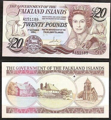 Falkland Islands - 1984 20 Pound. P.15a. UNC.
