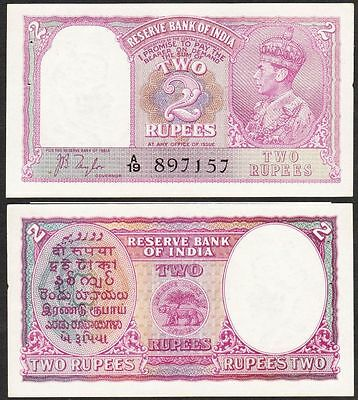 India - ND 1937 2 Rupee. P.17a. Staple holes & sm nick. aUNC/UNC.