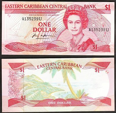 East Caribbean States - ND 1988-9 1 Dollar. P.21a. UNC.