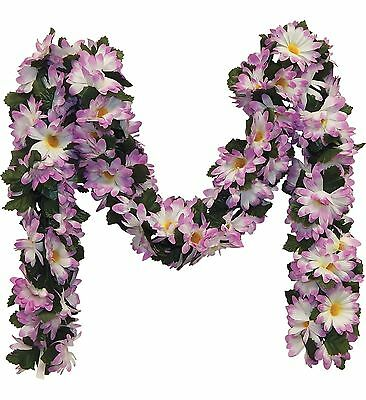 LAVENDER  DAISIES Chain Garland ~ 5 ft Silk Wedding Flowers Arch Gazebo Decor