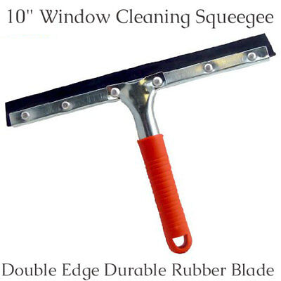 """New 10""""/250mm Double Edge Durable Lightweight Window Cleaning Squeegee Red"""