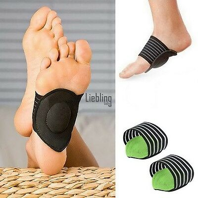 Heel Foot Pain Relief Arch Shoes Plantar Fasciitis Insole Pads Insert LEBB