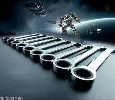 1PC 6-24mm Open-ring Spanners Home Ratcheting Combination Wrench Hand Tool Set