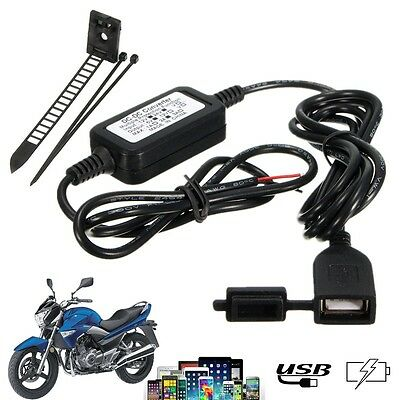 1.5m Motorcycle Motorbike GPS CellPhone USB Charger Power Supply Adapter 5V/2A