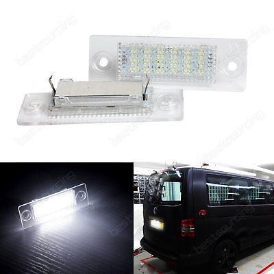 2X Canbus LED License Number Plate Light VW Caddy Touran Multivan Transporter T5