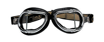 NEW CLIMAX 501 GOGGLES Classic VINTAGE Motorcycle Cafe Racer Rider Old School