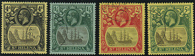 St Helena, SG 92/5, 1922 MCA set of 4v to 5/- very fine used, Cat £275.