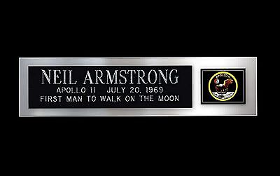 Neil Armstrong Autograph Apollo 11 NASA Nameplate For Signed Photo Framing Moon
