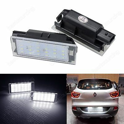 2X Canbus LED Licence Number Plate Light Renault Clio MK3 MK4 Megane 3 CC Twingo