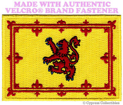 SCOTTISH FLAG PATCH SCOTLAND EMBROIDERED LION RAMPANT w/ VELCRO® Brand Fastener