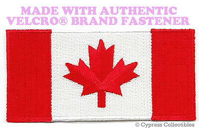 CANADA FLAG EMBROIDERED PATCH CANADIAN MAPLE LEAF w/ VELCRO® Brand Fastener