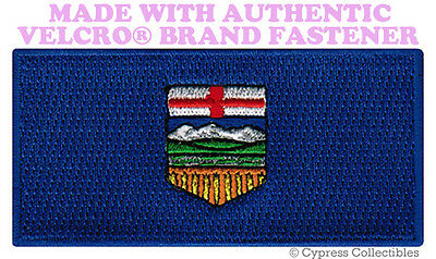 ALBERTA FLAG PATCH CANADA EMBROIDERED new CANADIAN w/ VELCRO® Brand Fastener