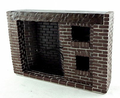 Dolls House Old Fashioned Brick Fireplace Colonial Walk-In Large Resin 1:12