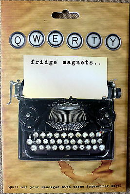 QWERTY Novelty Fridge Magnets  Typewriter Letters