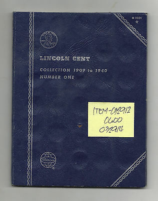 Lincoln Wheat Cents Partial Set 1909 - 1940 - Housed in Album - # 032912