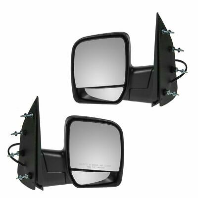 Power Side View Mirrors Folding Left & Right Pair Set for 02-08 Econoline Van