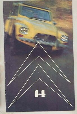 1968 Citroen Chevron Factory Magazine Brochure ID19 DS19 2CV History #14 ww1271