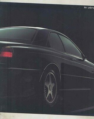 1994 Bentley Concept Java Prestige Brochure ww1292