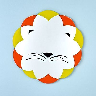 Lion Mirror - Baby Nursery Bedroom Playroom Lovely Childrens Mirror NEW