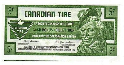 2009 5c CTC CANADIAN TIRE MONEY NOTE coupon 0359624156