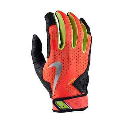NEW Nike Vapor Elite Pro Batting Gloves Atomic Red/Black/Volt Size MEDIUM