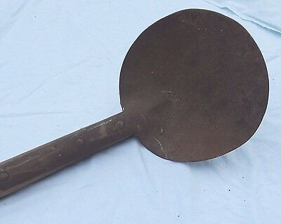Antique Round Shovel Potato Digger Oak Handle Primitive Garden 74 Inches Long