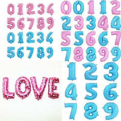 Letter/Number 2016 16/30/40 Inch Aluminum Balloon Party Decoration