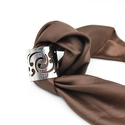 Table Serviette Metal Silver Buckle Holder Napkin Ring Wedding Party Home Decor