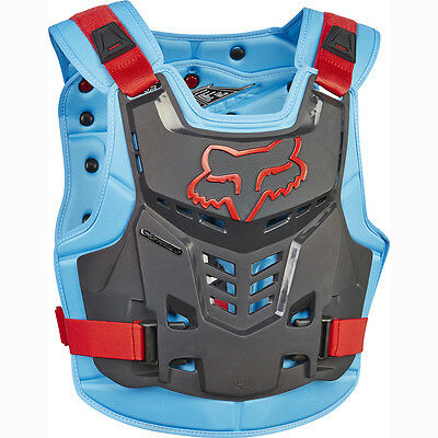 Fox Racing Mens Adult 2017 Blue Red Proframe Lc Rock Roost Guard Chest Protector