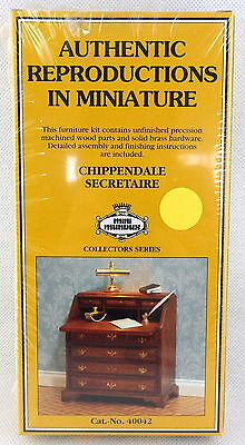 Dolls House Chippendale Desk Secretaire Kit Miniature Study Furniture
