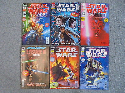 6x Comic- Star Wars / diverse - Zustand 2 / 2-