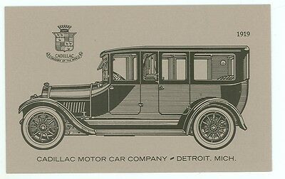 Car road transportation postcards collectables page 62 for Cadillac motor car company