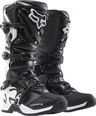 2017 Fox Racing Black Comp 5 Boot Motocross MX Offroad Boots ATV Adult Mens