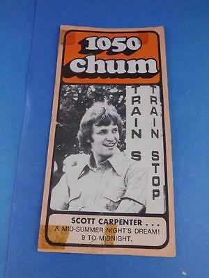 1050 Chum Radio Station Toronto Program Top 30 Songs July 1973 Scott Carpenter