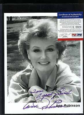 ANN ROBINSON Signed 8x10 Photo PSA/DNA COA AUTO Autograph