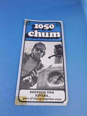1050 Chum Radio Station Toronto Top 30 Songs March 1974 Shotgun Tom Rivers