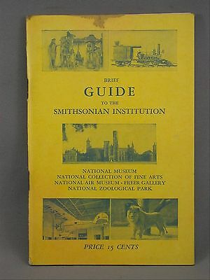 Smithsonian Intstitution Guide Fine Arts, Freer, Zoological Park c. 1953 Booklet