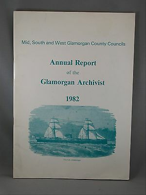 Mid South and West County Councils Glamorgan Archivist Annual Report 1982 Wales