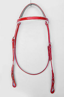 Light-Weight Race Head Bridle from PVC - Red/White