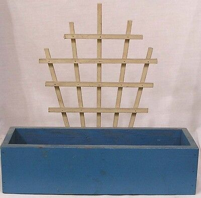 Vintage Wood Planter Box w Trellis Circa 1960s
