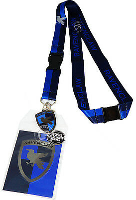 Harry Potter Ravenclaw School Lanyard Sticker ID Holder & Metal Charm Official