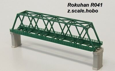 Rokuhan R041 Z Scale 220mm-long Single Track Bridge Green *NEW $0 SHIP in USA