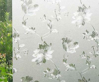60cm x1m Static Glueless 3D Reusable Removable Frosted Window Glass Film L025