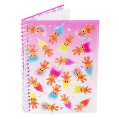 Officiel Good Luck Trolls Spirale A5 Bloc-notes Journal Cahier D'exercices